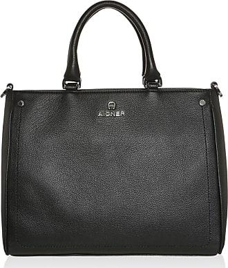 Ava Handle Bag Medium Black Tote schwarz Aigner