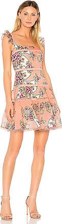 Naomi Flutter Sleeve Dress in Pink. - size 1 (XS) (also in 2 (S),3 (M),4 (L)) Aijek