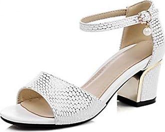 Minitoo , Damen Durchgängies Plateau Sandalen mit Keilabsatz , Beige - beige - Größe: 42