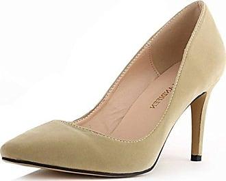 Easemax Damen Modisch Peep Toe Ohne Verschluss Pailletten Stilettos Mules Sandalen Rosa 35 EU