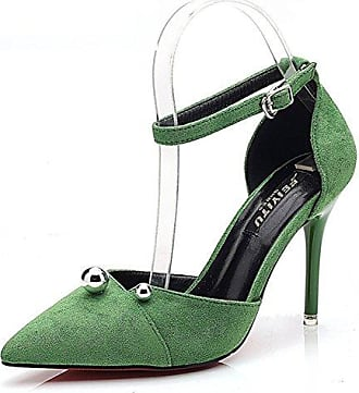 SHOWHOW Damen Spitz Zehe Slingback High Heels Sandale Schwarz 37 EU