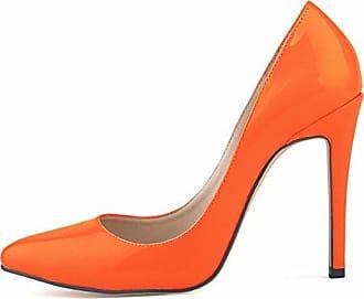 SHOWHOW Damen Chic Schleife Spitz Zehe Low Top High Heels Pumps Blau 36 EU
