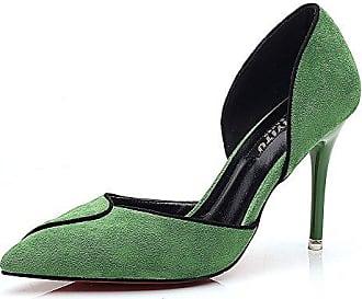 Aisun Damen Sexy Peep Toe Plateau Stiletto Hollow Out Pumps Sandale Mit Knöchelriemchen Grün 36 EU