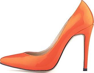 SHOWHOW Damen Chic Schleife Spitz Zehe Low Top High Heels Pumps Rot 38 EU