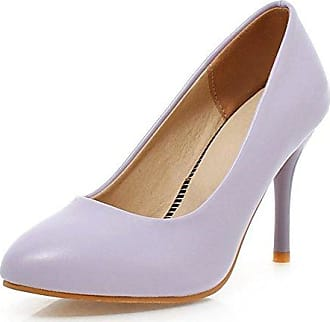 SHOWHOW Damen Glitzer Paillette Stiletto Abendschuh Pumps Pink 37 EU
