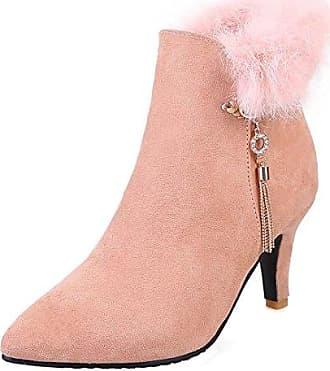 Damen Stiefelette/High Heels/Halbhohe Stiefel/Damenschuhe mit Plateausohle/Ankle Boots/Schwarz, EU 39