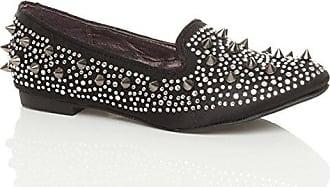 Damen Flach Klein Absatz Edelstein Spitz Slipper Ballerinas Schuhe Größe 37 4