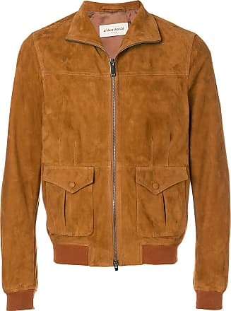 Leather Jacket for Men On Sale, Mud, Suede leather, 2017, L M S XL Selected