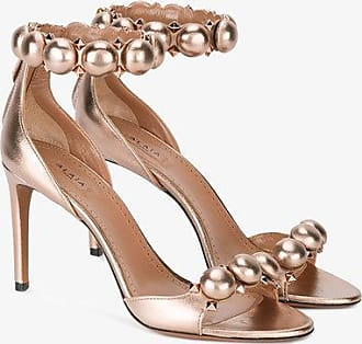 Sandals for Women On Sale, Rhodium, Leather, 2017, 3.5 4.5 5.5 7.5 Alaia