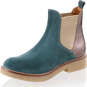Alba Moda Chelsea-Boot in modischem Leder-Mix, blau, Normal, marine/bronze