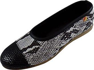 ALBEROLA Elástco Schuh Vamp Frau mit Schlange Simuliert Schwarz Größe 41