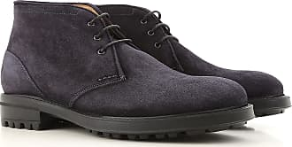Desert Boots Chukka for Men On Sale in Outlet, Dark Blue, Suede leather, 2017, 8 Alberto Guardiani