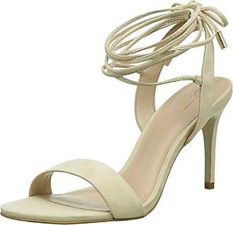 50.3.108 - Sandalias de Punta Descubierta Mujer, Color Blanco, Talla 38 Primafila