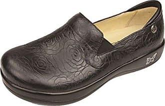 Alegria, Damen Clogs & Pantoletten schwarz Black Emboss Paisley, - Night Rosette - Größe: 42 W EU/12-12,5 US