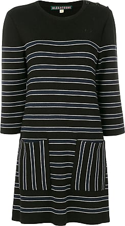 Alexa Chung Woman Striped Stretch Cotton-twill Mini Dress Navy Size 16 AlexaChung