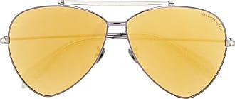 03a8294eaf198 Alexander McQueen Eyewear Óculos de sol aviador - Metallic