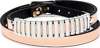Alexander McQueen Mini Bullets Wrap Bracelet in Burgundy