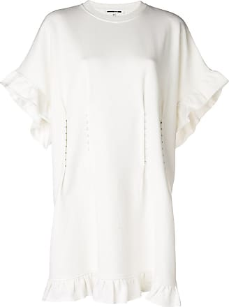 Mcq Alexander Mcqueen Woman Cropped Eyelet-trimmed Voile Top White Size 36 Alexander McQueen