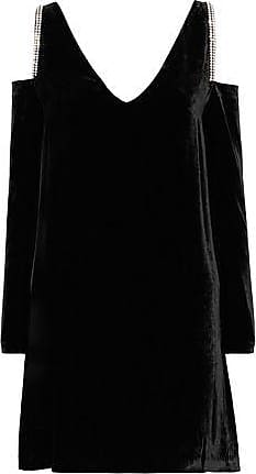 Mcq Alexander Mcqueen Woman Stitched Suede Mini Dress Black Size 38 Alexander McQueen