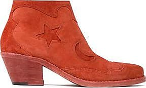 Mcq Alexander Mcqueen Woman Laser-cut Suede Ankle Boots Tan Size 39 Alexander McQueen