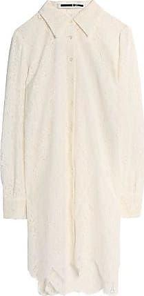 Mcq Alexander Mcqueen Woman Scalloped Chantilly Lace Shirt White Size 38 Alexander McQueen