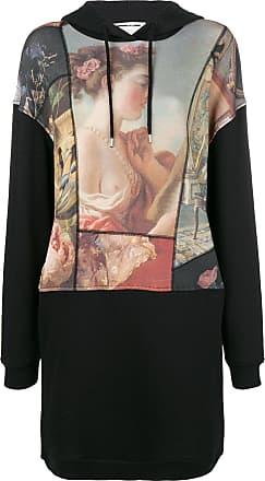 paint hooded dress - Black Alexander McQueen