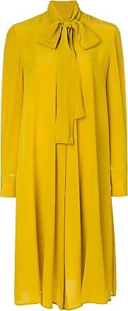pussy-bow dress - Yellow & Orange Alexander McQueen