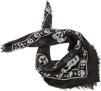Scarf for Women On Sale, Black, Modal, 2017, Universal Size Alexander McQueen