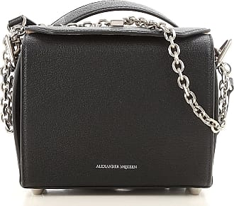 Shoulder Bag for Women On Sale, Black, Leather, 2017, one size Alexander McQueen