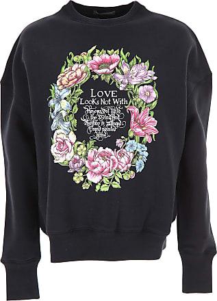 T-Shirt for Women On Sale, Black, Cotton, 2017, 6 Alexander McQueen