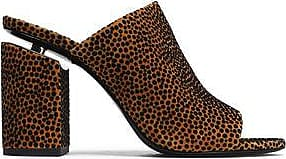 Alexander Wang Woman Avery Flocked Suede Mules Animal Print Size 36