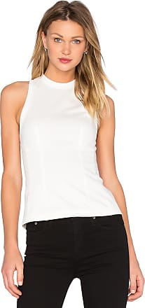 T By Alexander Wang Woman Open-back Twisted Cotton-jersey Tank White Size XS Alexander Wang