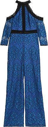 Alexis Woman Cold-shoulder Corded Lace Playsuit Royal Blue Size XS Alexis