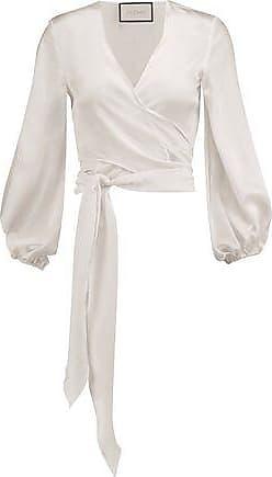 Alexis Woman Gathered Silk Crepe De Chine Blouse White Size M Alexis