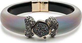 Alexis Bittar Druzy Stone Hinge Bracelet Warm grey