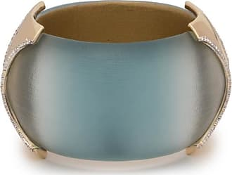 Alexis Bittar Large Dome Hinge Crystal Accent Bracelet Aquamarine ombre