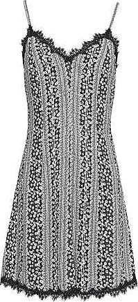 Alice+olivia Woman Delaney Cloqué Mini Dress Black Size 10 Alice & Olivia