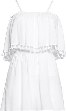 Alice+olivia Woman Tassel-trimmed Lace-paneled Georgette Playsuit White Size 10 Alice & Olivia
