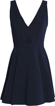 Alice+olivia Woman Nina Cutout Crepe Mini Dress Midnight Blue Size 6 Alice & Olivia