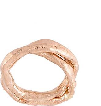 Alice Waese Linked Skinny Rings - Metallic
