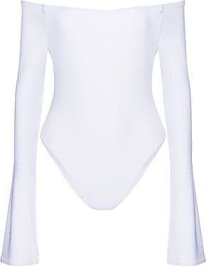 Alix Woman Off-the-shoulder Pleated Stretch-jersey Bodysuit White Size L Alix