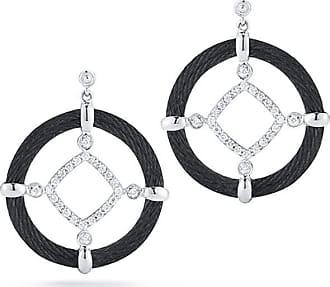 Alór 18k Diamond Cable Circle Drop Earrings