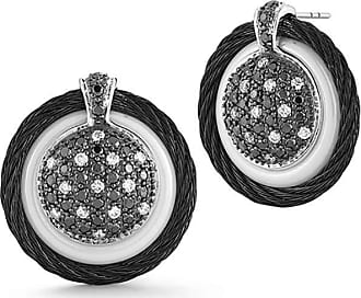 Alór 18k Diamond Pavé Cable Circle Drop Earrings
