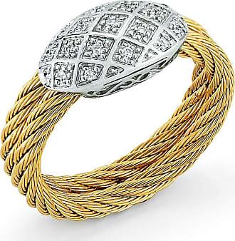 Alór 18k Diamond Pavé Horseshoe Ring, Gray, Size 7