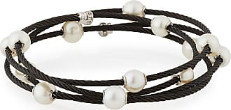 Alór Cable Wrap Bangle w/ Freshwater Pearls, Gray