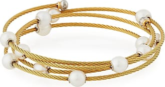 Alór 18k Gold Mixed Diamond Cable Bangle