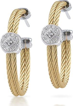 Alór 18k Cable & Diamond Pavé Hoop Earrings