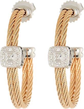 Alór 18kt Gold & Stainless Steel Classique Diamond Hoop Earrings