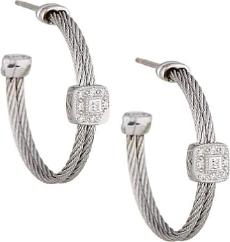 Alór Cable Hoop Earrings w/ Diamonds
