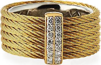 Alór Diamond Horseshoe Two-Row Ring, Size 7
